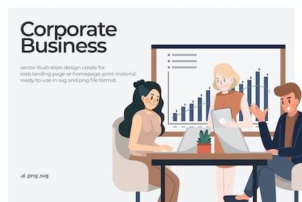 Negocios Corporativa - Ilustración