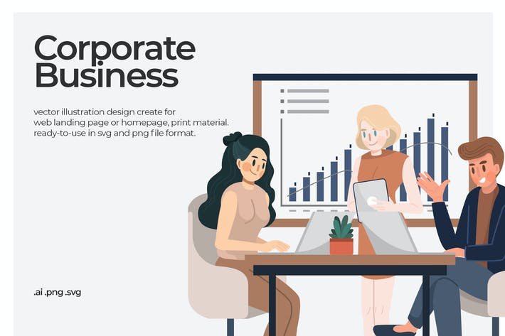 Corporate Business - Illustration