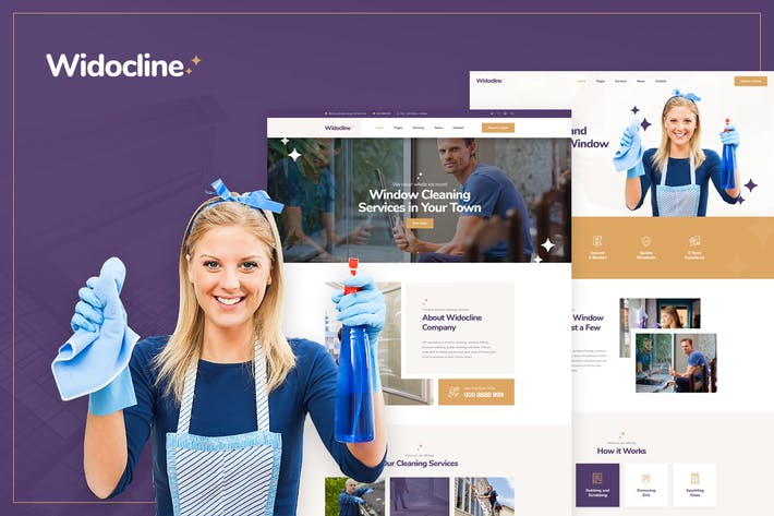 Thumbnail for Widocline - Window Cleaning Services PSD Template