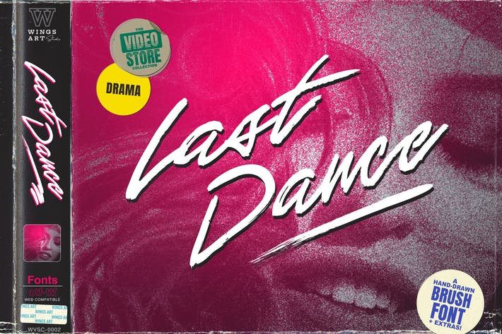 Thumbnail for Last Dance - An 80s Inspired Movie Script Font