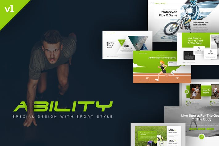 Thumbnail for Ability Sports Presentation Template