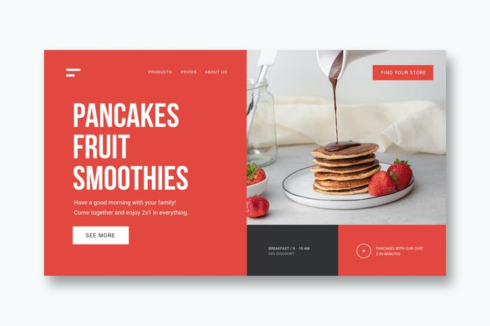 Restaurant & Breakfast - Landing Page