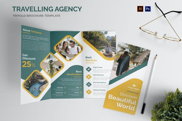 Traveling Agency Trifold Brochure
