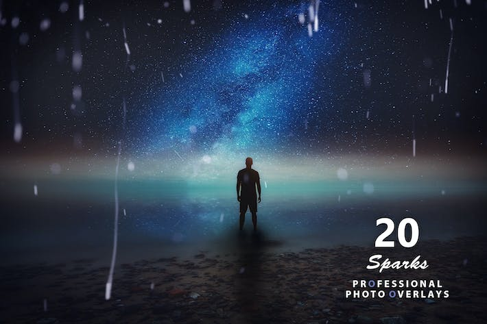 Thumbnail for 20 Sparks Photo Overlays