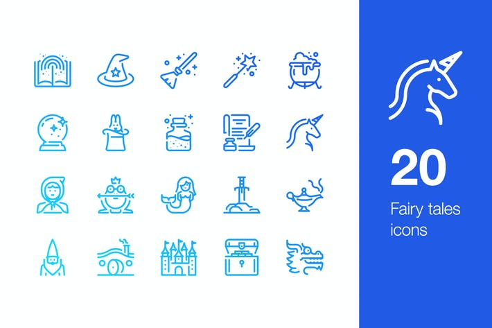 Thumbnail for 20 Fairy tales icons