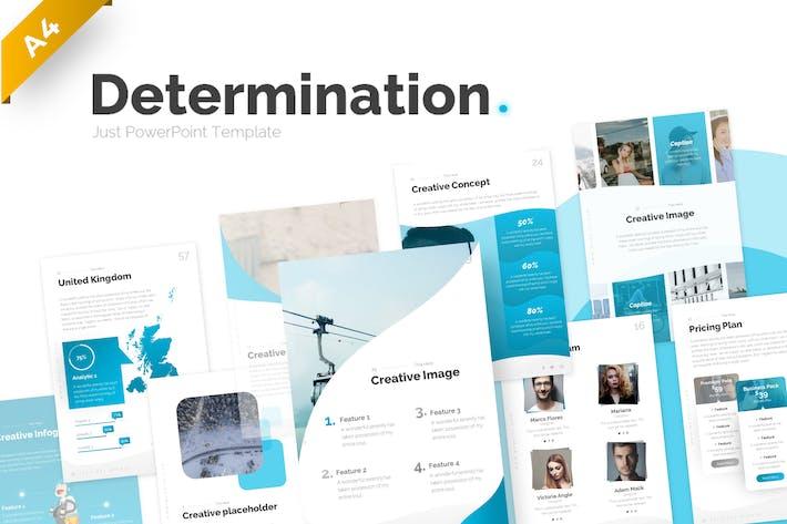 Determination Portrait PowerPoint Template