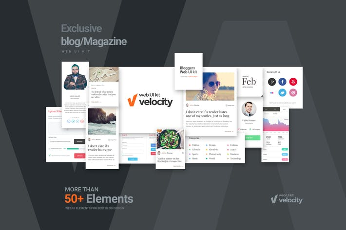 Thumbnail for Velocity Bloggers Web UI Kit