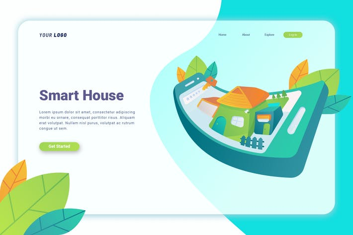Thumbnail for Smart House - Landing Page