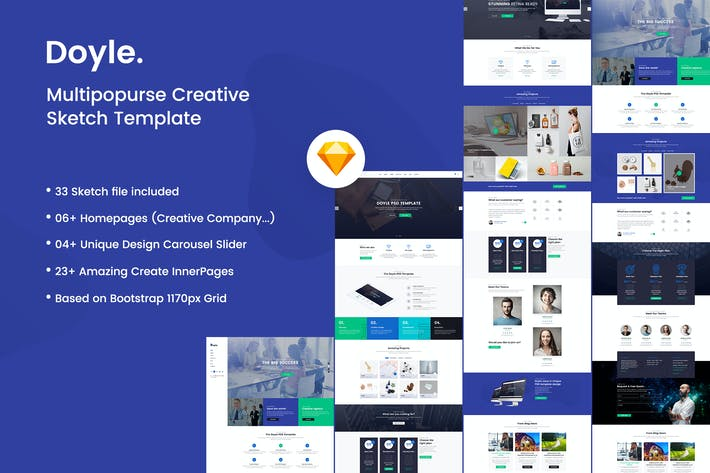 Cover Image For Doyle - Creative Multipurpose Sketch Template