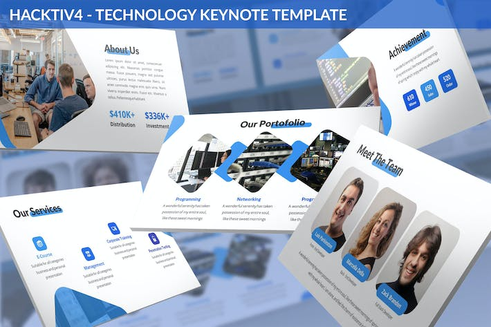 Thumbnail for Hacktiv4 - Technology Keynote Template