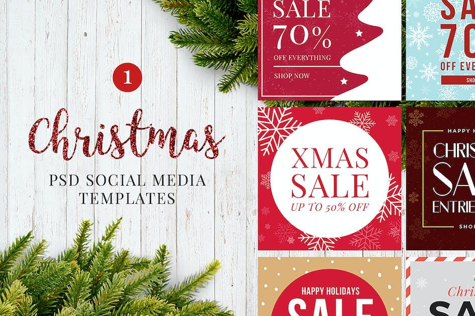 Christmas Social Media Posts V1 von SlideEmpire auf Envato Elements