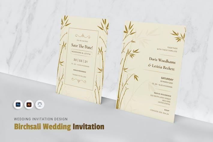 Thumbnail for Birchsalis-Hochzeitseinladung