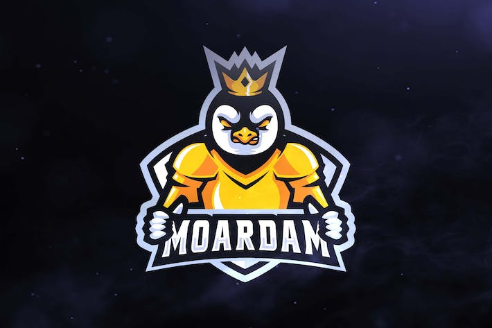 Thumbnail for Penguin King Sport and Esports Logos