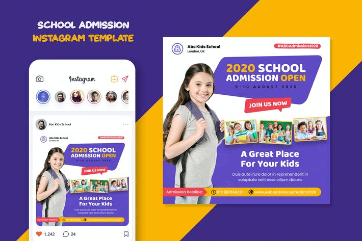 School Admission Instagram Template