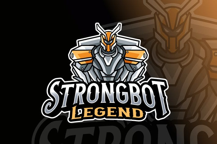 Thumbnail for Strongbot Logo Template