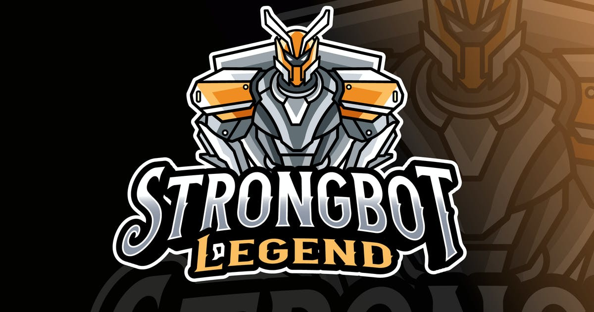 Download Strongbot Logo Template by IanMikraz