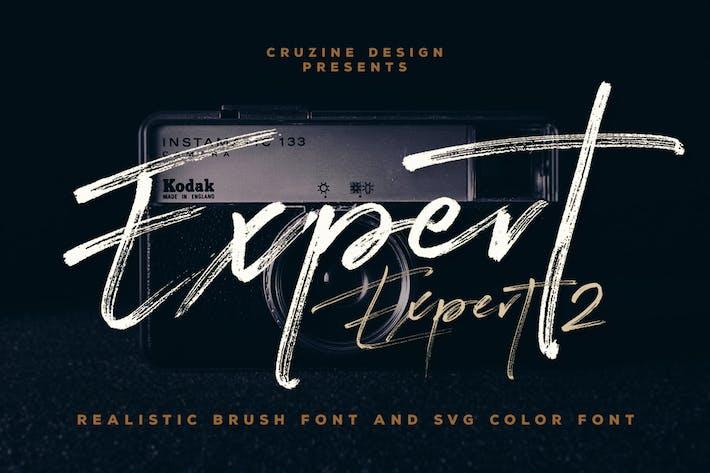 Thumbnail for Expert Brush & SVG Font