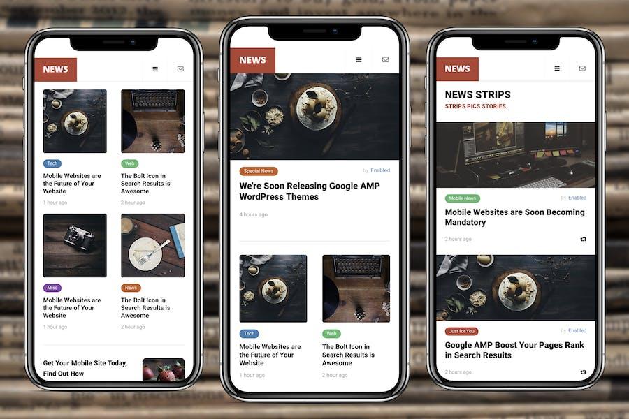 AMP News Mobile | Google AMP Mobile News Template