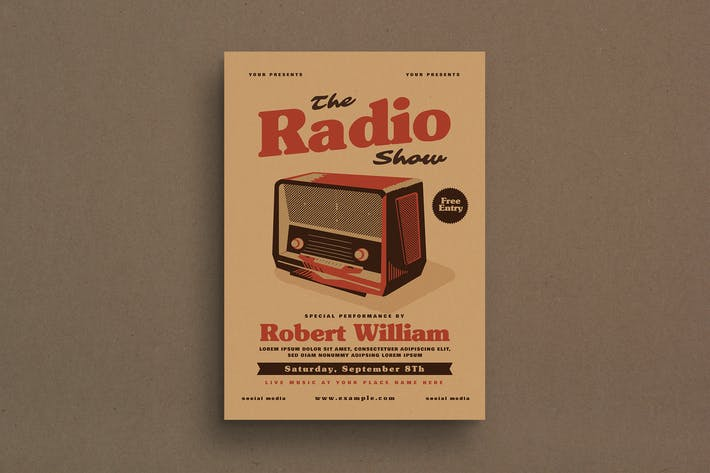 Thumbnail for Vintage Radio Event Flyer