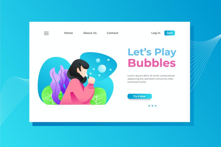 Thumbnail for Play Bubbles Landing Page Illustration