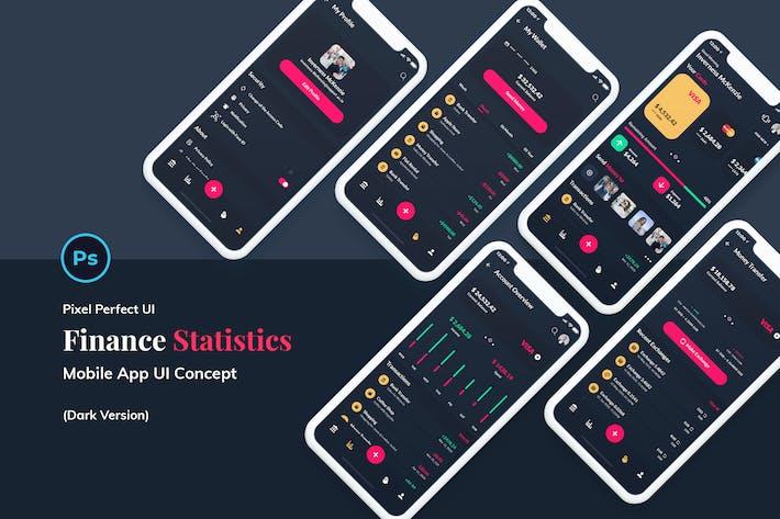 Thumbnail for Finance Wallet Mobile App Ui Kit Dark Version