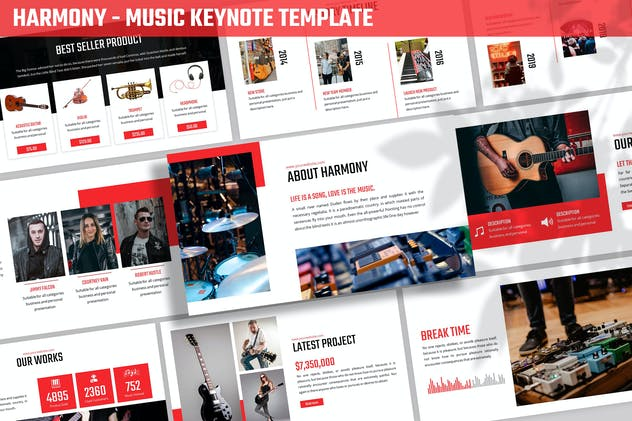 Harmony - Music Keynote Template - product preview 3