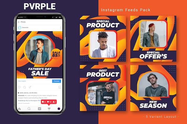 Pvrple - Instagram Feed Pack