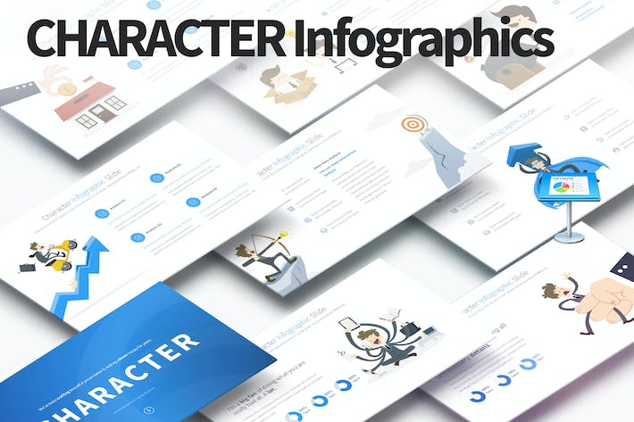 Thumbnail for Character - Keynote Infographics Slides