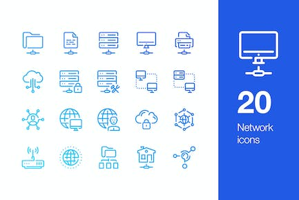 20 Network icons