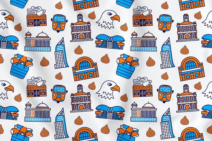 Thumbnail for Jakarta City Seamless Pattern Vol. 1