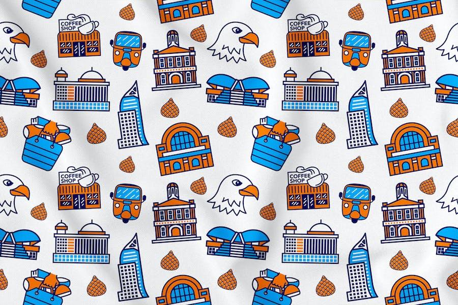 Jakarta City Seamless Pattern Vol. 1