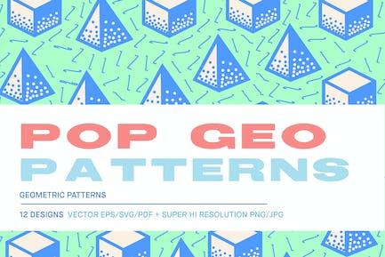 Pop 3D Geo Muster