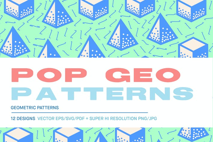 Thumbnail for Pop 3D Geo Patterns