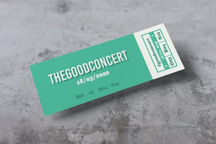 Thumbnail for Ticket Photoshop Mockups