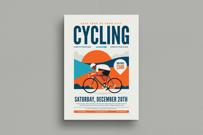 Thumbnail for Cycling Event Flyer