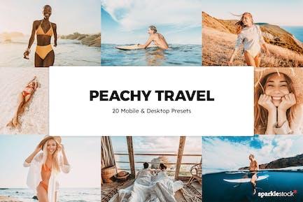 20 Peachy Travel Lightroom Presets & LUTs