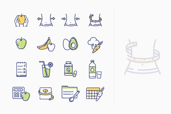 Thumbnail for Healthy Lifestyle - Dieting Icons - Outline Series