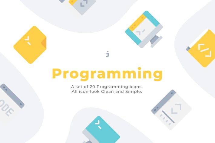 Thumbnail for 20 Programming icons - Flat