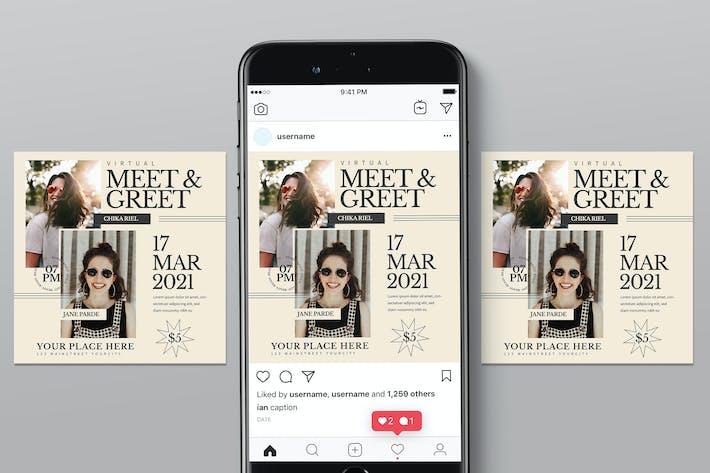 Virtual Fashion Meet Insta Post