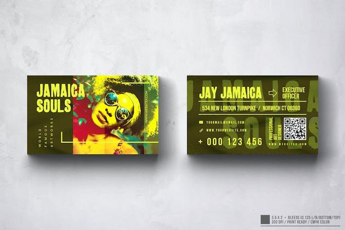 Jamaica Club Business Card Design