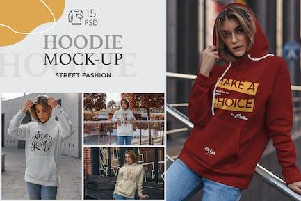 Hoodie Mock-Up Street Fashion