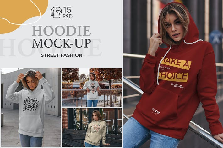 Cover Image For Hoodie Mock-Up Street Fashion