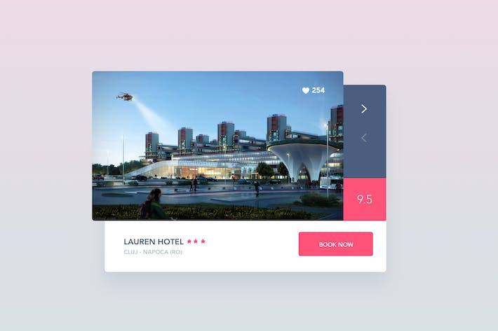 Thumbnail for Hotel Booking Widget With Rating
