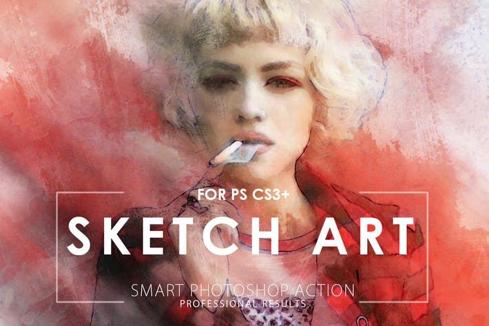 Thumbnail for Sketch Art Potoshop Action
