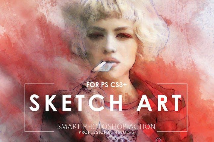 Thumbnail for Sketch искусства Потошоп Действие