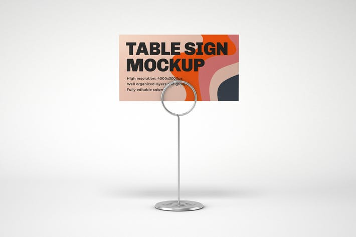 Table Sign Mockup