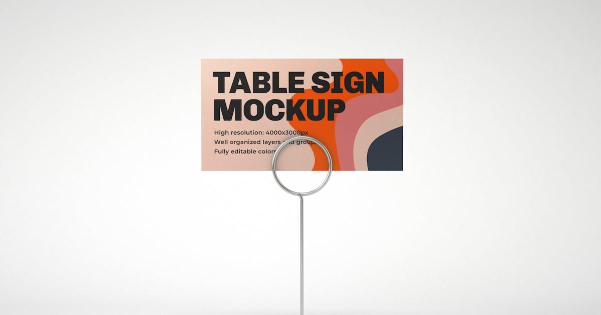 Download Table Sign Mockup by deeplabstudio