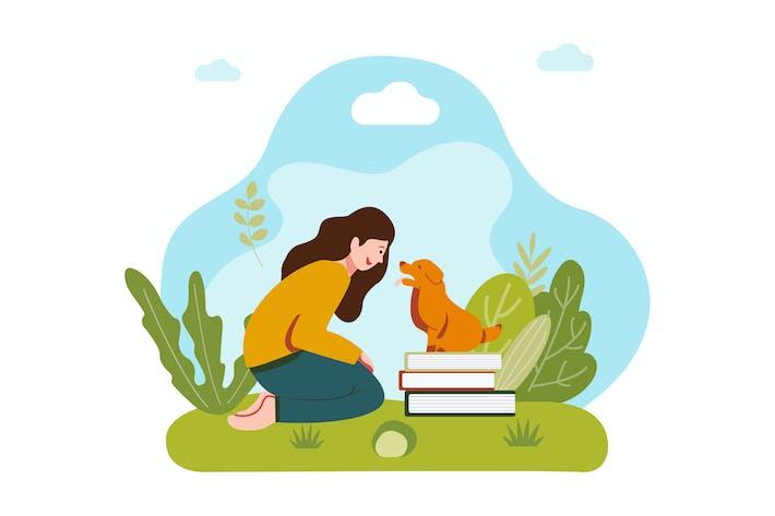 Thumbnail for Mit einem Haustier