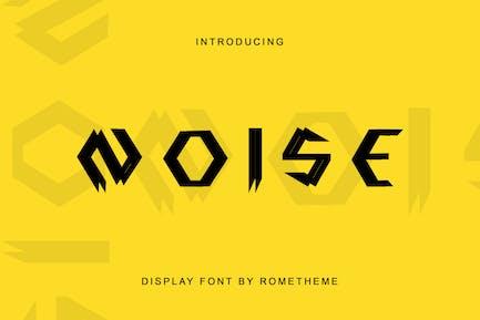 Noise - Display Font DR