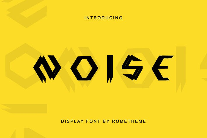 Thumbnail for Noise - Display Font DR